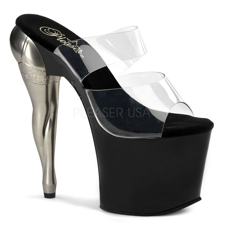 VIXEN-702 Pleaser Sexy Shoes 7 1/2 Inch Heel Slip On Strap Stripper