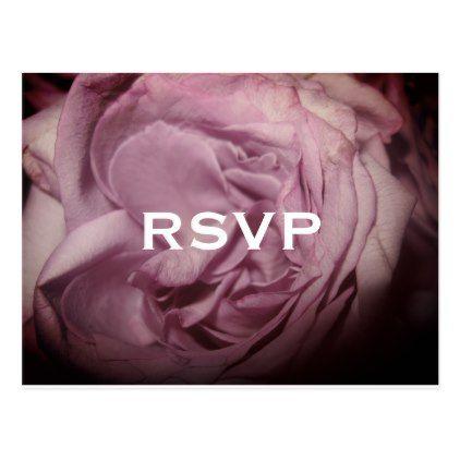#wedding #responsecards - #Pink Rose RSVP Postcard