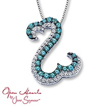 Open Hearts by Jane Seymour® Blue & White Topaz Necklace