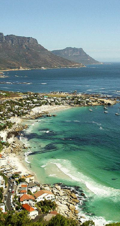 Clifton - Cape Town, South Africa.  The house I lived in as a child is in this photo.