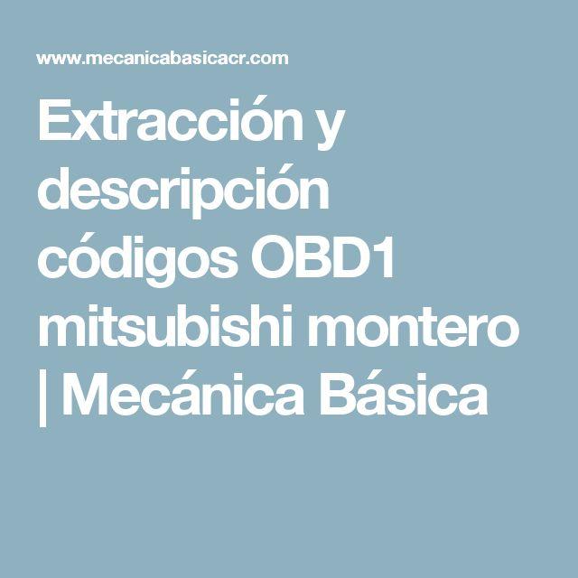 Extracción y descripción códigos OBD1 mitsubishi montero | Mecánica Básica