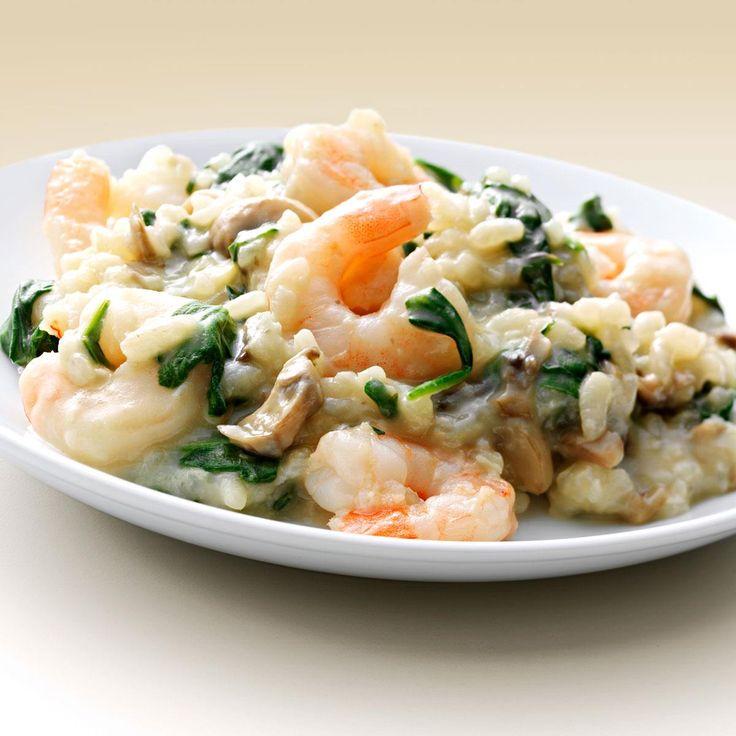 "Shrimp 'n' Spinach Risotto Recipe -Writes Jennifer Neilsen of Williamston, North Carolina, ""I enjoy concocting new, healthy recipes and spinach is one of the few vegetables that my husband will eat."" Jennifer's creamy risotto makes a great side dish, but doubles as a meal-in-one as well."