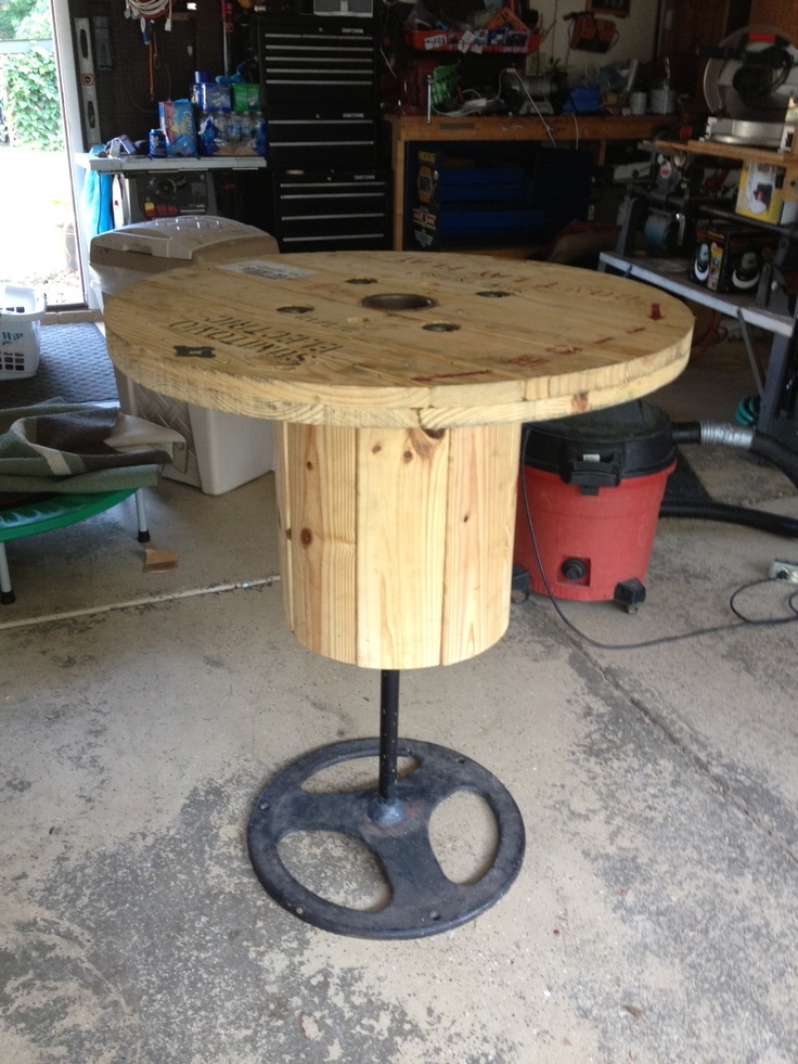 Where To Buy Man Cave Furniture : Perfect bar table for a man cave cool re purpose idea