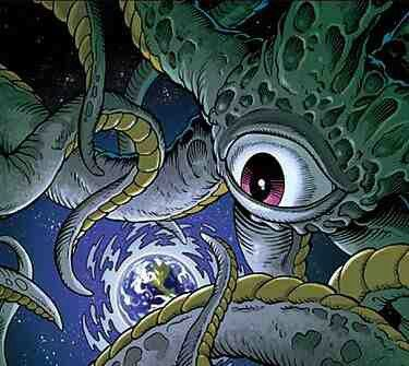 """Shuma Gorath- huma-Gorath is the archetypal Class Three demon, native to an extradimensional realm. He is one of the """"Old Ones"""" who came to Earth untold millions of years ago, ruling it and feasting on mankind's ancestors. Though banished in the distant past by the sorcerer Sise-Neg, Shuma returned to Earth and ruled for an age in what would be Cimmeria, fed by blood sacrifice. Over 21,000 years ago, the newly risen god Crom led a shaman to three iron-bound books of magic with which the…"""
