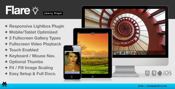 Flare - Responsive Mobile-Optimized Lightbox Plugin