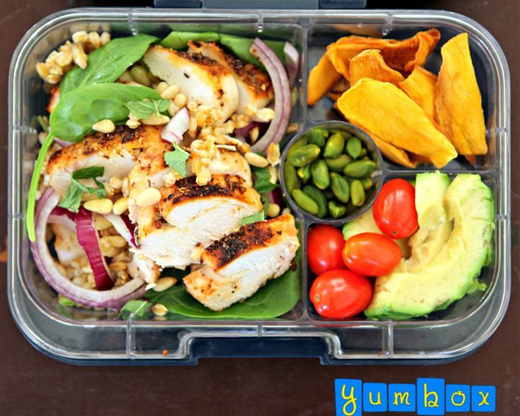 1. Grilled Chicken and Barley Salad #healthy #bentobox #lunch http://greatist.com/health/healthy-bento-box-ideas