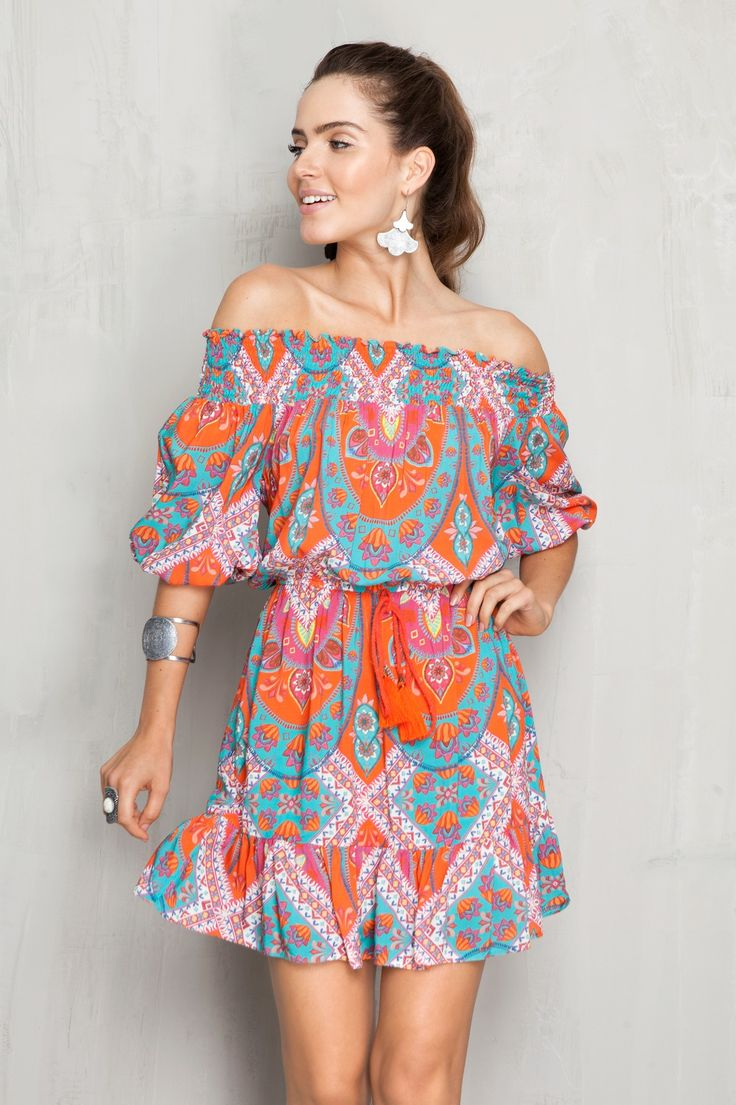 vestido estampa ibiza   Dress to