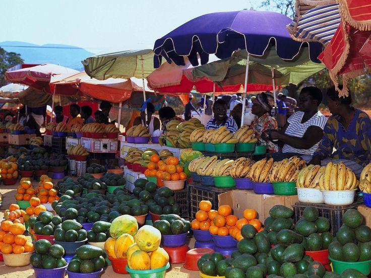Limpopo-Fruitmarket in Venda