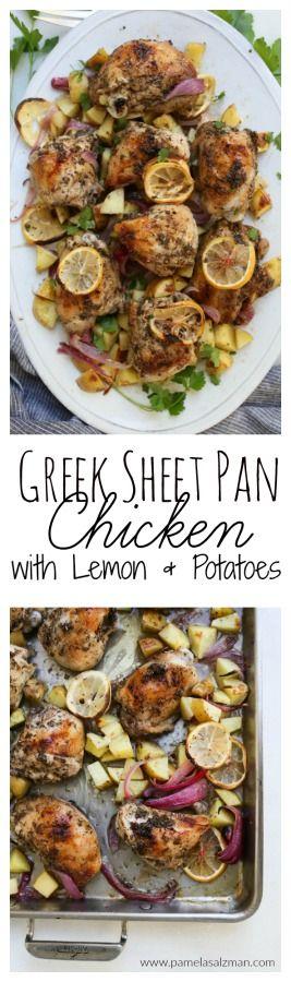 Greek Sheet Pan Chicken with Lemon and Potatoes   Pamela Salzman