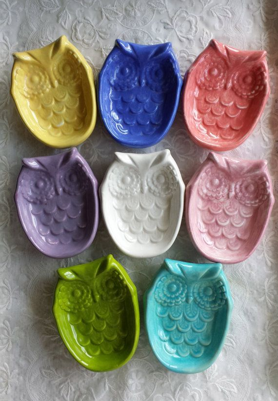 Owl Soap Dish Tea Bag Holder Trinket Dish Owl Home Decor Mother S Day Gift Teacher Gift Kitchen Decor