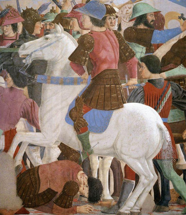 ❤ - PIERO DELLA FRANCESCA - (1415 - 1492) - Battle between Heraclius and Chosroes (detail). Fresco. Basilica di San Francesco, Arezzo,
