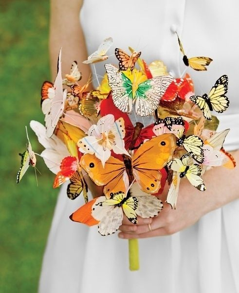 Butterfly Bouquet | 20 Cute And Quirky Wedding Bouquet Ideas I love every one of these!