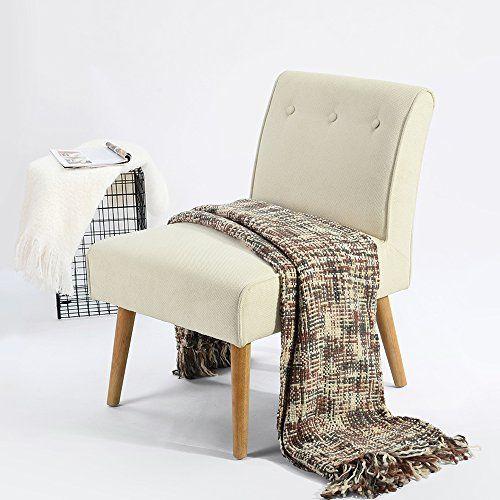 Fanilife: silla Accent, silla de asiento largo en tejido de lino y madera moderna; silla para tocador, dormitorio, salón, muebles, color crema. #Fanilife: #silla #Accent, #asiento #largo #tejido #lino #madera #moderna; #para #tocador, #dormitorio, #salón, #muebles, #color #crema.