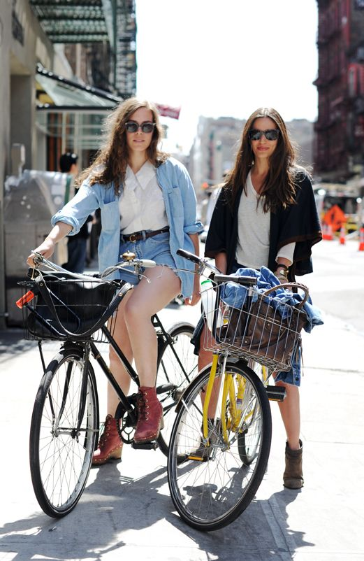 Girls bike riding via remainsimple.tumblr