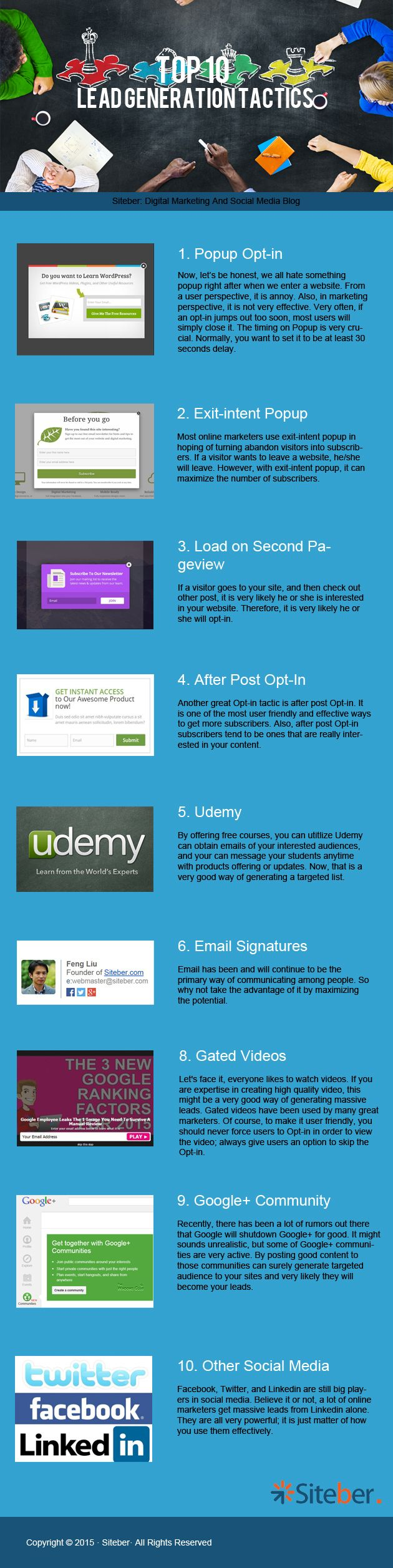 Top 10 Lead Generation Tactics for 2015 - #infographic