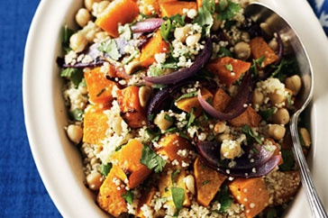 Roasted pumpkin couscous ... No reason it couldn't a light dinner. Would certainly make a great side dish to lamb chops.