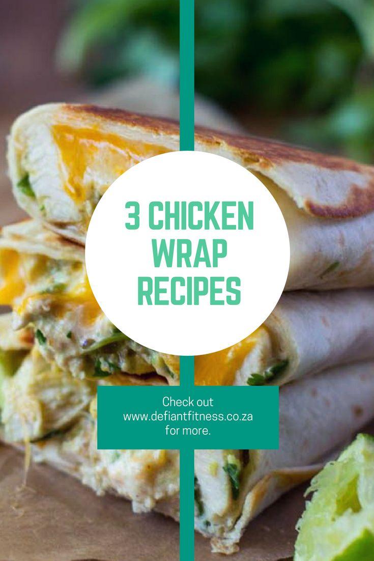Healthy chicken wraps | Chicken wrap recipes | Simple chicken recipes