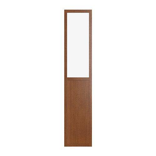 BILLY OLSBO Panel/glass door - medium brown  - IKEA