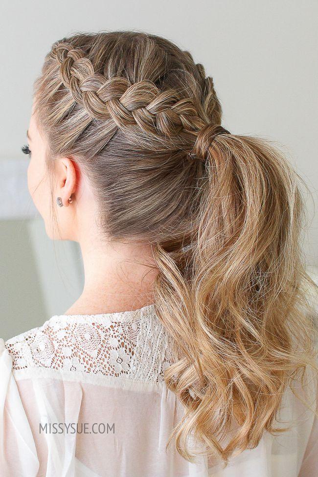 Double Dutch Braid Ponytail Missy Sue Dutch Braid Ponytail Braided Hairstyles Long Hair Styles