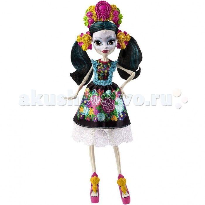 Monster High Кукла Скелита Калаверас  Интересная кукла Скелита Калаверас из серии Монстр Хай  от известного бренда Mattel станет для девочки отличным способом развлечься, а также хорошей верной подружкой, с которой она никогда не расстанется.  На лице известной героине имеются интересные узоры. Как сама утверждает Скелита, она сама создает их на своем лице. Особое внимание она уделят своим губам и глазам. Также она имеет длинные черные волосы. Сделана она из качественного пластика, поэтому…