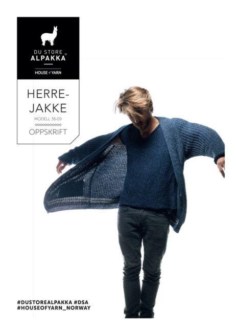 Du Store Alpakka - gratis oppskrift på Herrejakke
