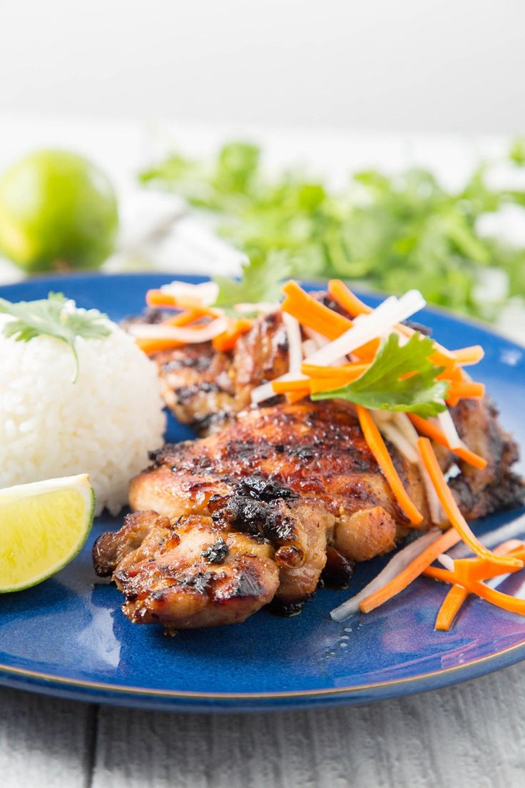 Vietnamese Grilled Lemongrass Chicken Thighs | The Missing Lokness