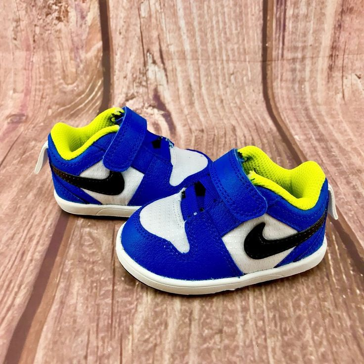 Nike Baby infants Trainers shoes blue green white size 1.5 New - unworn unisex