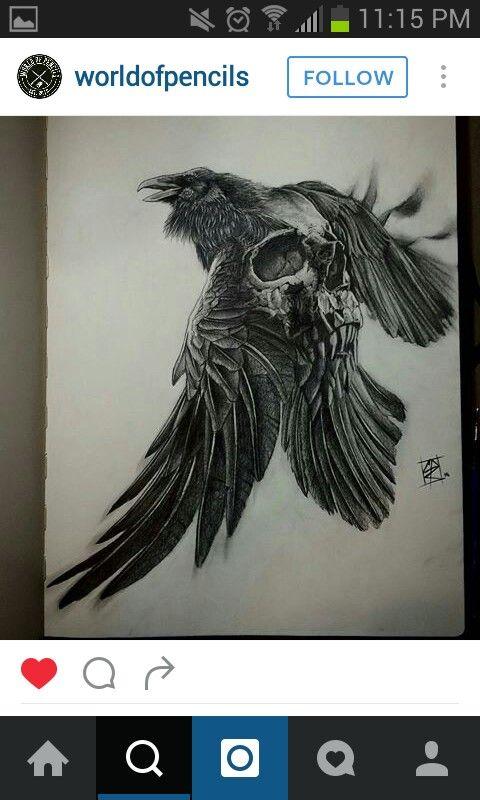 Raven skull …