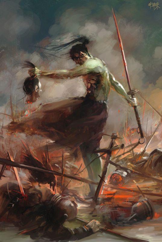 Berserker's Rage, by Yap Kunrong.