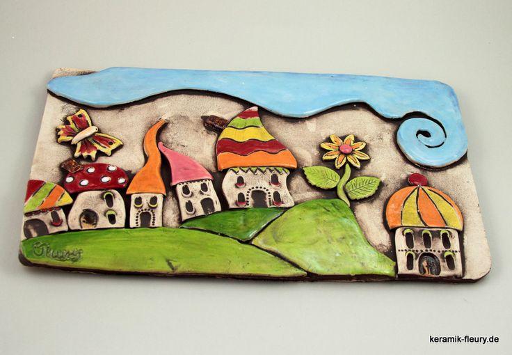 Deko-Objekte - AprilSchrill Keramik Bild - ein Designerstück von kreativwerkstatt-fleury bei DaWanda