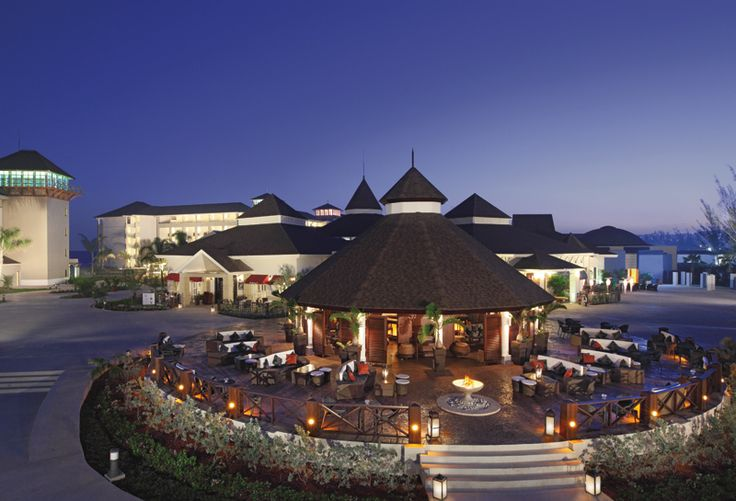 The promenade at Secrets Wild Orchid is even more picturesque at night!