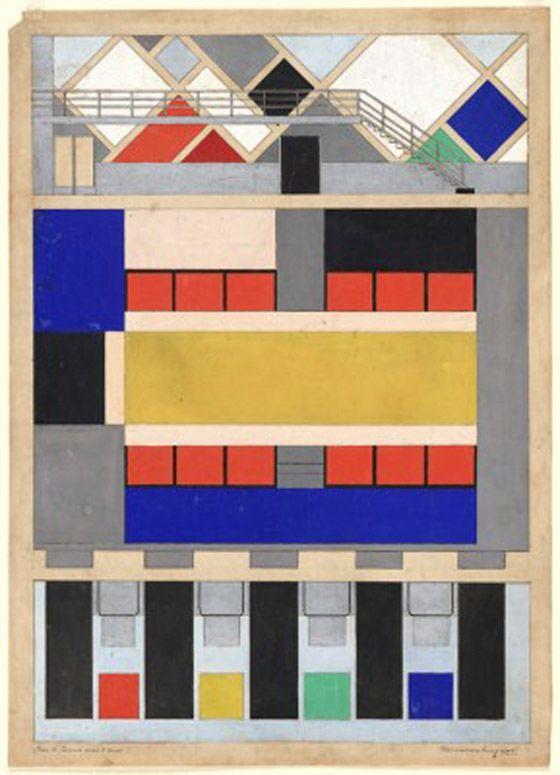 3_Colour Blocking :Theo Van Doesburg Dutch Artist -1883-1931  Periods: De Stijl, Dada
