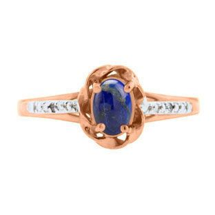 Rose Gold Diamond Oval Lapis December Birthstone Ring Gemologica.com offers a #unique #simple selection of #colored #gemstone #birthstone #rings for #women. Collection includes #engagement #stackable #halo #vintage #solitaire #styles with #natural #amethyst #sapphire #opal #ruby #aquamarine #garnet #morganite #stones. #Jewelry crafted in 10K 14K 18K #yellow #rose #white #black #gold sterling #silver #metal. Shop #Gemologica #jewellery now for #handmade #fashion #fine #custom #style jewelry