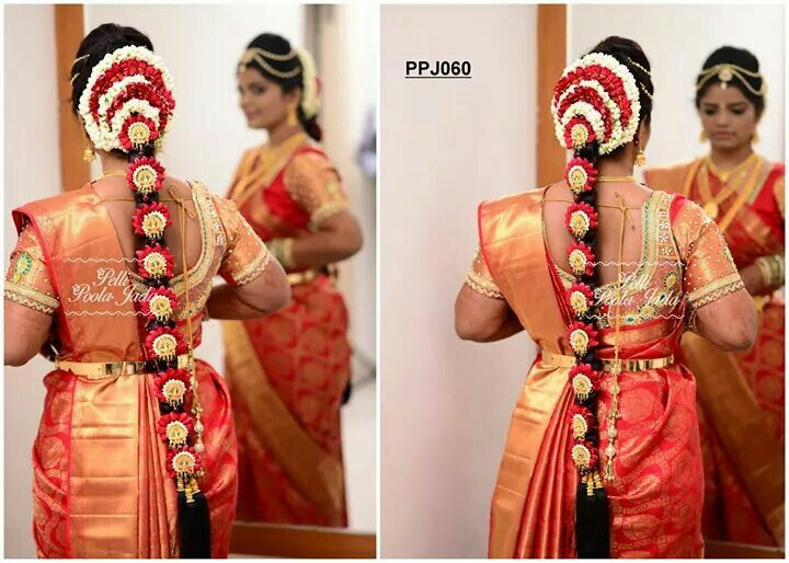 traditional marriage hair styles pelli poola indian bridal 5337