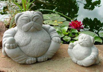 Zen PUG Dog Buddha Garden Art Statue Sculpture By Tyber Katz | Gardens,  Sculpture And Shopping