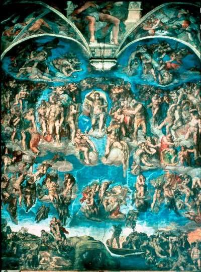 Last Judgment by Michelangelo was a controversial but important fresco (48 x 44 feet) that can be seen in the Sistine Chapel, Vatican.