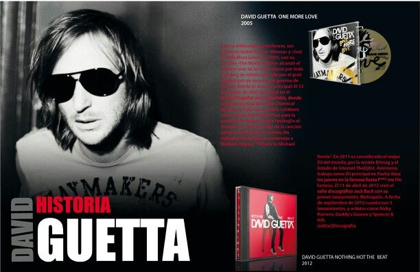 Diseño david guetta  Ilustrator, indesign and photoshop