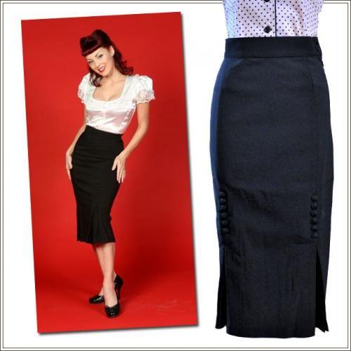 50's  スタイルのピンナップガール風ロカビリー、サイコビリーペンシルスカートの販売