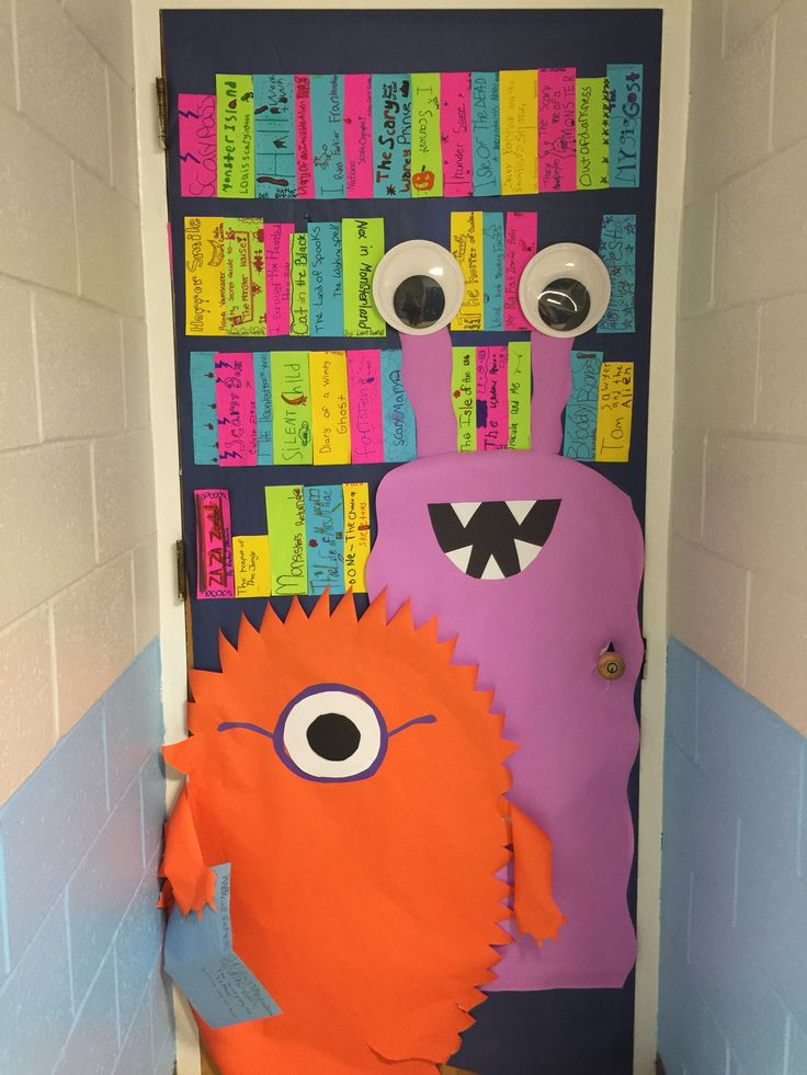 Classroom Ideas Uk ~ Best ideas about monster door decoration on pinterest