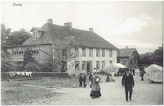 Ousby Torgdag ca 1906 Osby på Tradera.com - Vykort och bilder från Skåne