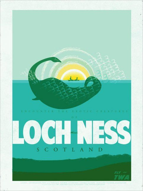 Travel Posters for Loch Ness and Other Homes of Mythical Beasts | Adweek