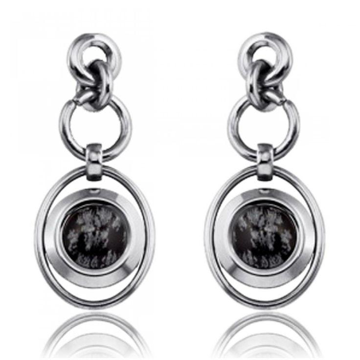 Obsidienne Earrings - Xc38