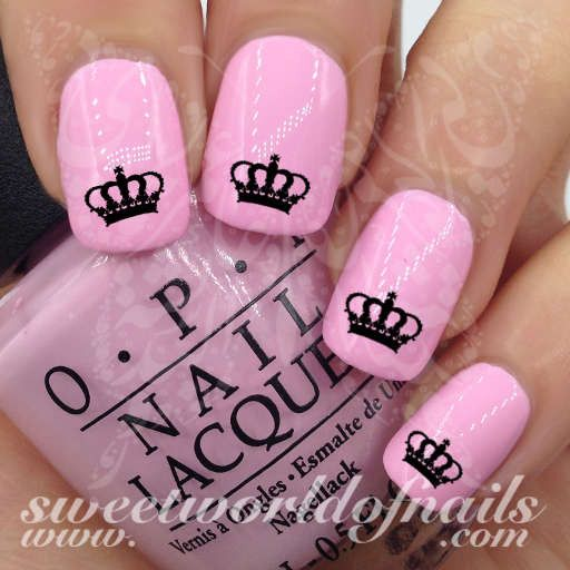 Royal Crown Nail Art Nail Water Decals Transfers Wraps - Best 25+ Crown Nail Art Ideas On Pinterest Crown Nails, Royal