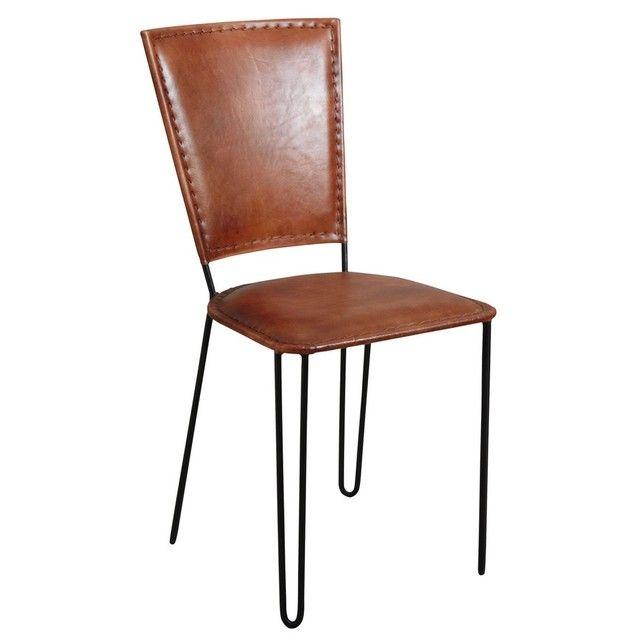 Aspect : Matériau principal : métalMatériaux secondaires : cuirDimensions : Hauteir de l'assise (en cm) : 48Hauteur (en cm) : 87Longueur (en cm) : 42,00Profondeur (en cm) : 57,00Autres caractéristiques : Livré monté : OuiPoids (en kg) : 7,90 Peu importe votre choix pour ce qui est de l'utilisation de la chaise en métal et cuir, il s'agit d'un accessoire qui peut vous aider à parfaire originalement et simplement votre mise en place. Pour ce faire, il vous suffit de mettre à l&...