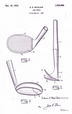 A photo of the patent diagram of the 1st sand wedge.