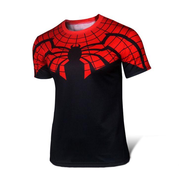 Digital Printing Spiderman Sport Gym Compression Shirt
