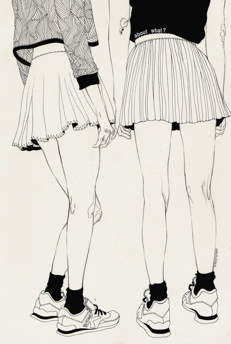 Kaethe Butcher black and white illustration from I Love Illustration #illustration #girls