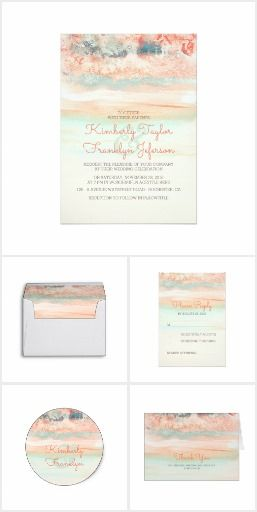 Ocean Watercolors Beach Wedding Collection