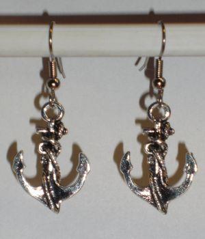 Verrückte Ohrringe und Schmuck Welt  - Ohrringe Anker Damen Ohrschmuck Modeschmuck ohne Stein Metalllegierung Maritim Neuware