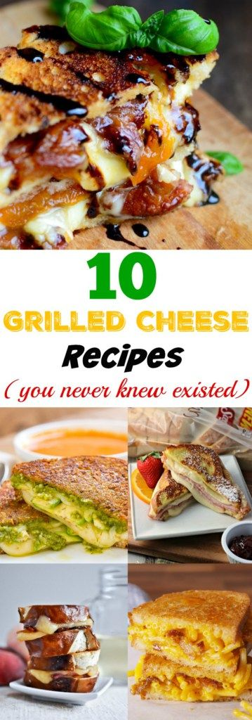 A mouthwatering collection of 10 Grilled Cheese Recipes that you may never knew existed. These are great ideas If you want to switch things up from your typical grilled cheese ingredients. All of the recipes are still easy to make and packed with flavor. My favorite is made with mac and cheese!